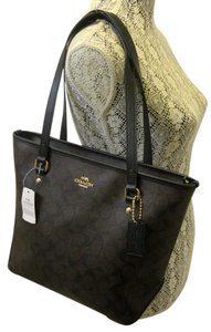 Coach Tote in Black, Brown, Gold