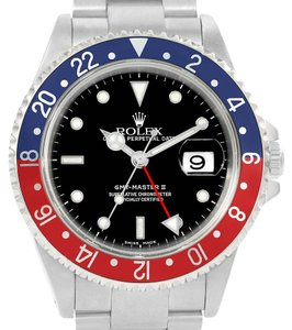 Rolex Rolex GMT Master II Blue Red Pepsi Bezel Automatic Mens Watch 16710