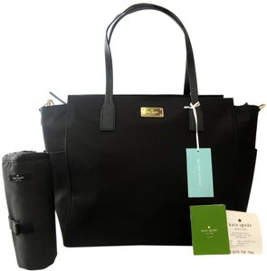 Kate Spade Black, Gold Diaper Bag