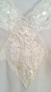 Other Lace Feminine Boho Top Ivory