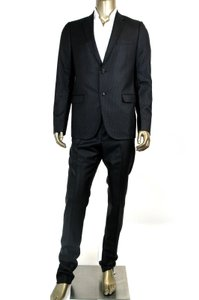 Gucci New Gucci Men's Black Striped Wool Silk Suits It 50/us 40 244547 1000