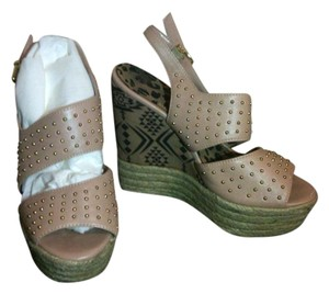 Jessica Simpson Straps, Tan Wedge Wedges