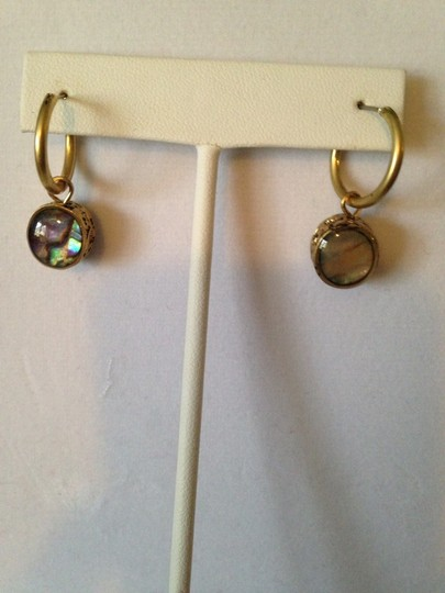 Kenneth Cole Gold-Tone Abalone Earrings