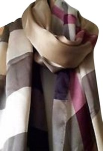 Burberry Oblong Silk Scarf Burberry Oblong Silk Scarf