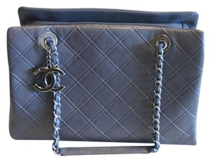 Chanel Silver Tote in Gray