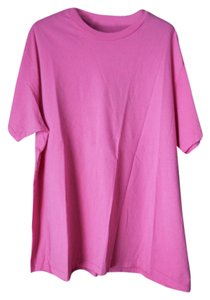 Gap Cotton Short Sleeves Crew Neck Plus-size Fit T Shirt Pink