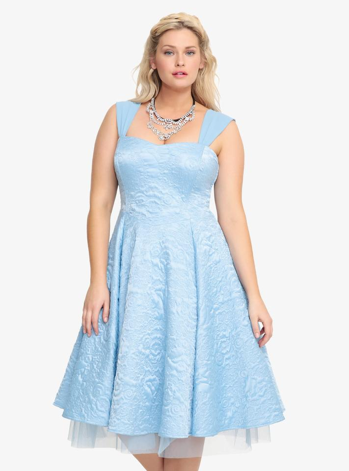 Torrid Blue Disney Cinderella Collection Party Above Knee Formal ...