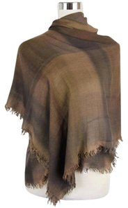 Bottega Veneta New Bottega Veneta Brown Black Plaid Modal Cashmere Scarf 288470 9064