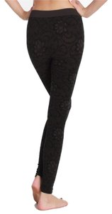Nikibiki Floral Zaccardi Flower Charcoal Gray Leggings