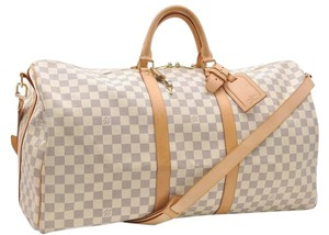 Louis Vuitton Damier Azur White Travel Bag