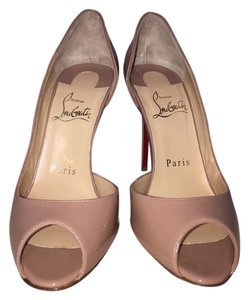 Christian Louboutin Red Sole Patent Nude Pumps