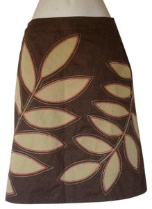 Boden Skirt Brown/Tan