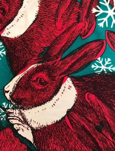 LuLaRoe Lularoe OS Leggings Christmas Bunny 2016 Holiday Velveteen Rabbit Leggings