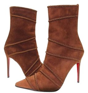Christian Louboutin Red Bottoms Suede Brown Boots