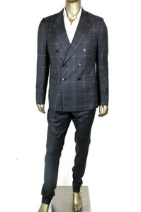 Gucci New Gucci Men's Gray Wool Suits Blazer Pants It 52/us 42 346474 1165