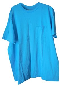 Gap Cotton Short Sleeves Crew Neck Fit Pocket T Shirt Blue