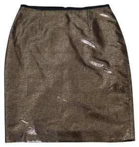 Tory Burch Skirt Gold/copper and black