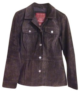 Eddie Bauer Dark Brown Leather Jacket