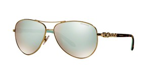 Tiffany & Co. TF 3049 B - GOLD with SILVER MIRROR LENS - Free 3 Day Shipping
