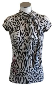 Dolce&Gabbana T Shirt Black and white animal print