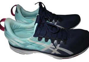 Asics Breathable Comfortable Blue/teal/white Athletic