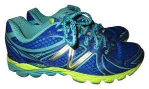 New Balance blue/teal/yellow Athletic