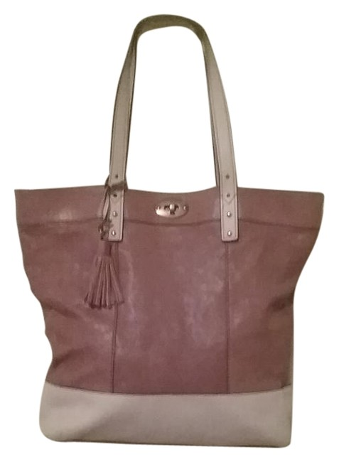 Item - Dark Camel and Tan Leather Tote