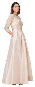 Aidan Mattox Ballgown Sequin 3/4 Sleeve Dress