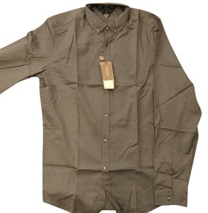 Gucci Holiday Gift Slim Fit Button Down Shirt Olive