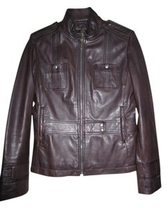 Kenneth Cole Brown Leather Jacket