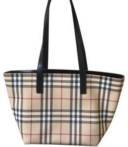 Burberry Haymarket Tote in Nova Check & Black