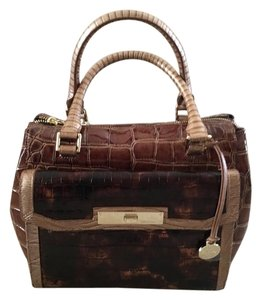 Brahmin Satchel in Brown W/Gold