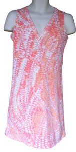 Calvin Klein short dress Pink & peach Stretchy Cotton Washable on Tradesy