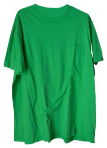 Gap Cotton Short Sleeves Crew Neck Fit Pocket T Shirt Bright Green