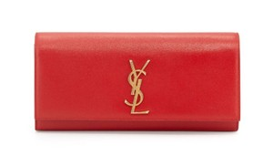 Saint Laurent Monogram Cassandre Kate Woc red Clutch