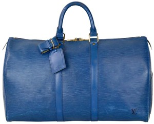 418aaf206352 Blue Louis Vuitton Weekend   Travel Bags - Up to 90% off at Tradesy