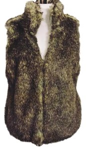 Michael Kors Faux Fur Faux Raccoon Medium Boho Vest