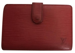 Louis Vuitton LV French Red Epi Compact Wallet