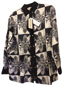 Fausto Puglisi Button Down Shirt black and white print