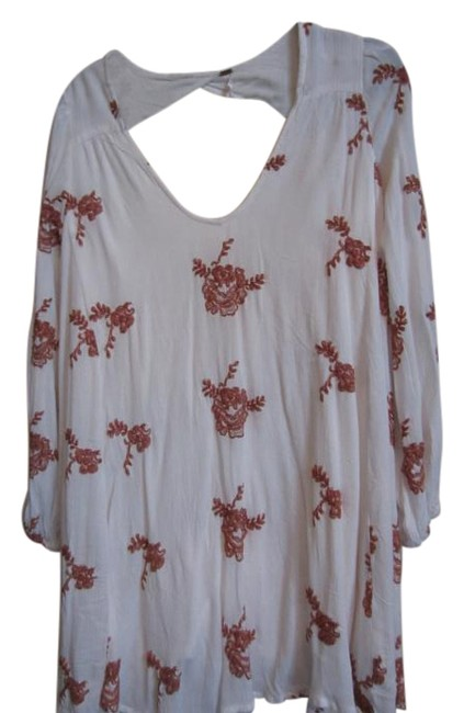 Item - Ivory Emma Embroidered Short Casual Dress Size 8 (M)