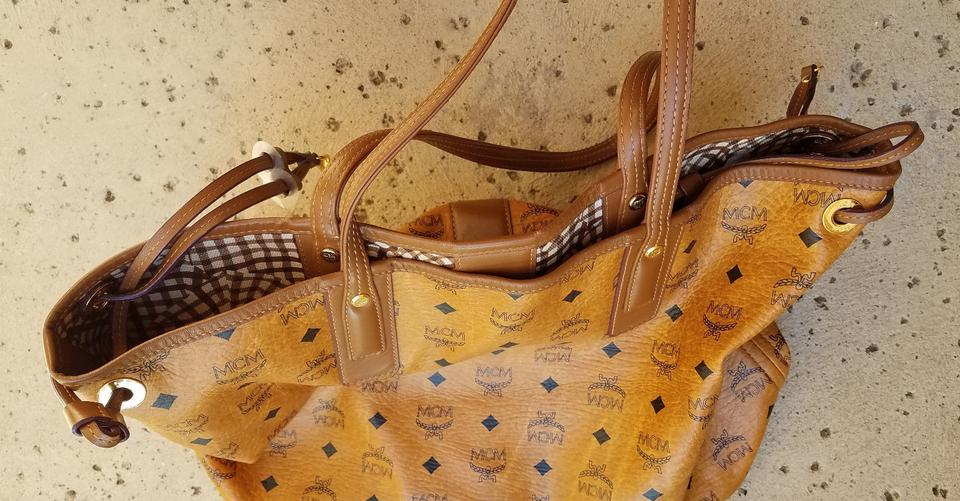 Reversible Coated Liz Tote Brown MCM Canvas a54Oqnw5W