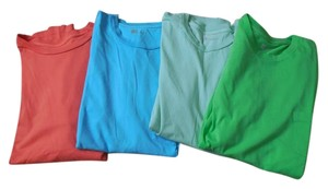 Gap Cotton Short Sleeves Crew Neck Fit Pocket T Shirt Bright Green Light Green Orange Blue