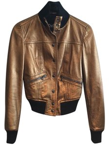 Dolce&Gabbana Bronze Leather Jacket
