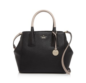 Kate Spade Leather Satchel in Black / Almondine