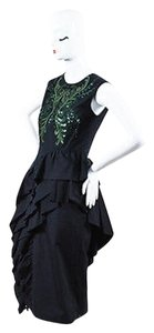 Dries van Noten Black Sequin Sl Dress