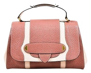 Marc Jacobs Mauve Light Grained Leather Two Tone Thompson Satchel in Pink