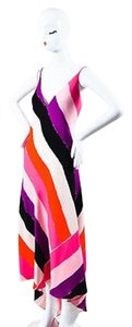 Black,Pink,Purple,Red,White,Black, Pink, Purple, Red, White Maxi Dress by Emilio Pucci Black Striped Sleeveless Maxi