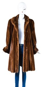Other Vintage Carol Irwin Ware Fur Collection Chestnut Long Fur Coat