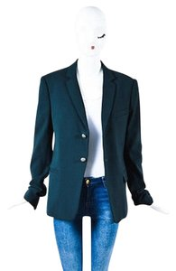 Balmain Balmain Dark Green Shw Double Button Blazer