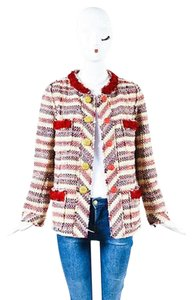 Marc Jacobs Cream Red Tweed Multi-Color Jacket